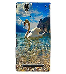 ColourCraft Lovely Duck Design Back Case Cover for SONY XPERIA T2 ULTRA