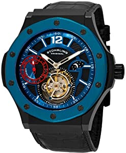 Stuhrling Original Men's 160E.335651 Apocalypse Revelation Tourbillon GMT AM/...