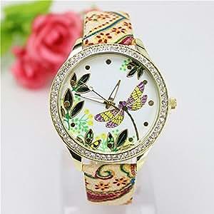 Casual Women Rhinestone Watches Relojes B711226: Sports & Outdoors