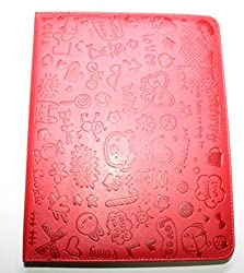 kathy Store INC Lovely Cartoon Pattern PU Leather Folding Stand Flip Folio Case Cover for Apple iPad 2, 3 & 4 (Red)