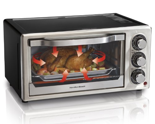 Hamilton Beach 31512 Convection 6-Slice Toaster Oven, Black and ...