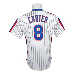 MLB Gary Carter New York Mets #8 Majestic Cooperstown Collection Throwback Jersey -... by Majestic