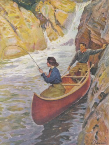 Man & Woman in Canoe Sportsman's 550 Piece Collector Puzzle - 1