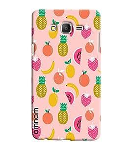 Omnam Pink Fruit Pattern Printed Designer Back Cover Case For Samsung Galaxy On 7
