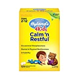 Natural Sleep Aid, Hyland's 4 Kids Calm 'n Restful Calms Forte, Relief of Insomnia and Restlessness for Children, 125 Sleeping Tablets (Tamaño: 125 Count)