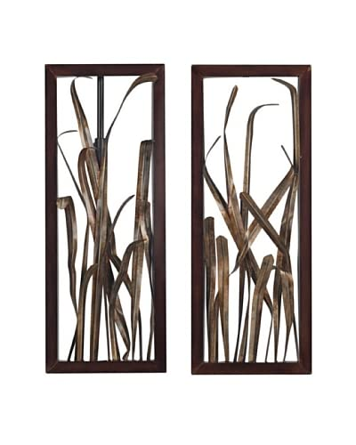 Artistic Hayfield-Grass Wall Décor, Bronze