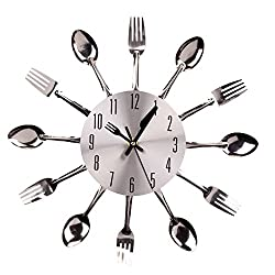 CrazyDeal FUN HOME Cool Cutlery Kitchen Clock (Cutlery Clock)
