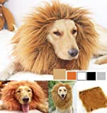 Generic Lion Costume Mane Wig for Dogs, M, Light Brown