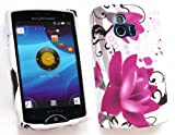 FLASH SUPERSTORE SONY ERICSSON XPERIA MINI ( NOT X10 ) GEL SKIN COVER PURPLE BLOOM