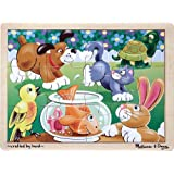 Melissa & Doug Pets Wooden Jigsaw Puzzle With Storage Tray (12 pcs)