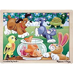 [Best price] Puzzles - Melissa & Doug Playful Pets Jigsaw (12 pc) - toys-games