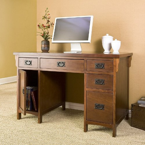 Buy Low Price Comfortable Mahogany Finish Mission Style Computer Writing Desk (B0034TGXBE)
