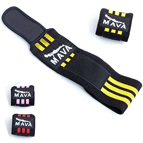 Mava Fitness Gloves: Strong Wrist Support Wrist Wraps With Velcro Closure For