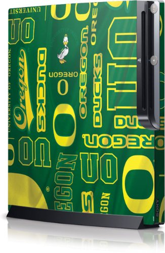 U Of Oregon - Oregon Pattern Print Skin - Sony Playstation 3 / Ps3 Slim (4Th Gen)(160/250Gb) - Skinit Skin