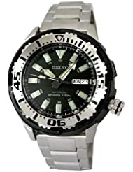 Seiko Men's SRP227 Stainless Steel Analog with Black Dial Watch