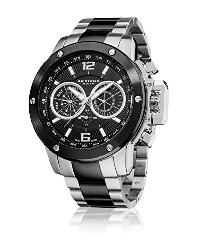Akribos XXIV Reloj con movimiento cuarzo suizo AK604SSB Plateado / Negro 50  mm