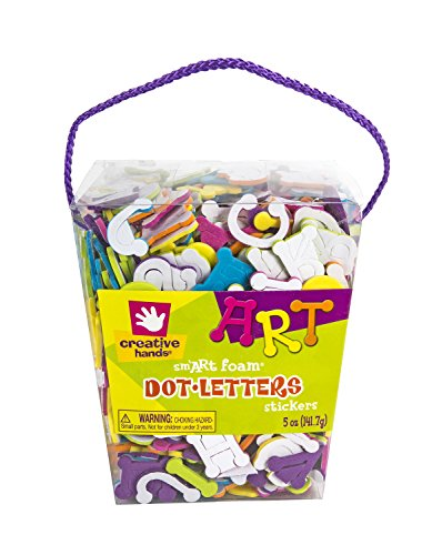 Creative Hands by Fibre-Craft Foam Stickers, 5-Ounce, Dot Letters