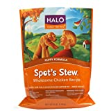 51VLGpSAEQL. SL160 SS160 Halo Spots Stew Natural Dry Dog Food, Puppy, Wholesome Chicken Recipe, 6 Pound Bag (Misc.)