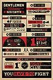 Poster Fight Club Règles du Fight Club (61cm x 91,5cm)