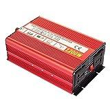 autoinbox カーインバーター 正弦波 パワー コンバーター 12v 1200W 変換器 変圧器 12V-110V DC→AC 車から家庭用電源 非常電源・補助電源に
