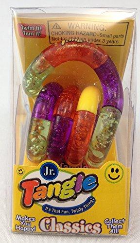 Tangle Jr. Fidget Toy - Yellow Orange Purple Green - 1