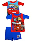 Disney Cars - Little Boys 3 PC Cars Short Sleeve Shorty Pajamas