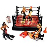 XTR World Hardcore Champion Wrestling Toy Figure Play Set, Comes w/ 5 Toy Figures, Dog, Wrestling Ring, Accessories