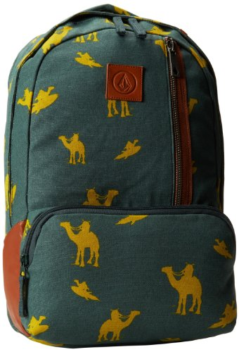Volcom, Zaino Uomo Basis Canvas Backpack, Verde (Jungle Green), 45 x 30 x 7 cm