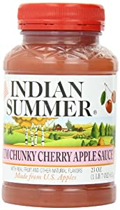 Indian Summer Chunky Cherry Applesauce, 23-Ounces (Pack of 6)