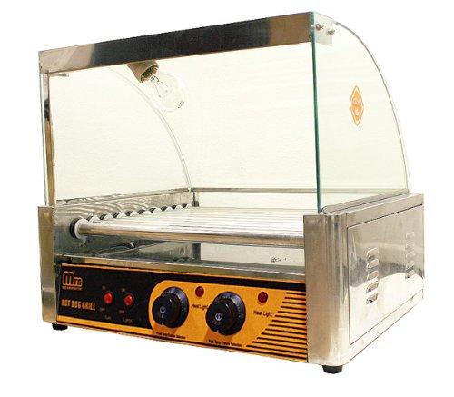 New MTN Commercial 7 Roller Hotdog Sausage Grill Machine Hot Dog Maker 18-24pc