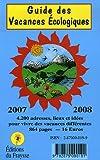 echange, troc Philippe Lécuyer - Guide des vacances écologiques (édition 2007-2008)