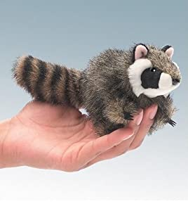 Folkmanis Mini Raccoon 5in Finger Puppet from Folkmanis Puppets