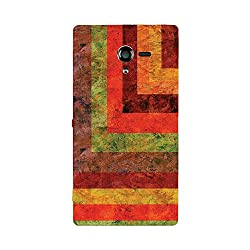 Skintice Designer Back Cover with designer 3D sublimation printing for Sony Xperia Z