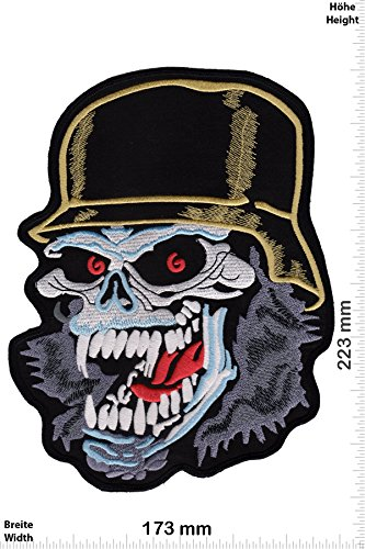 Patch - Slayer - Skull- 22 cm - BIG - Bigpatch - Musica - Slayer- toppa - applicazione - Ricamato termo-adesivo - Patch""