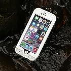 Merit™ iPhone 6 Plus Waterproof Case IP 68 Underwater Waterproof Shockproof Snowproof Dirtpoof Protection Case Cover with Kickstand for iPhone 6 Plus 5.5 inch (White)
