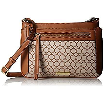 Nine West Fearless Remix Cross Body, Taupe Multi, ...