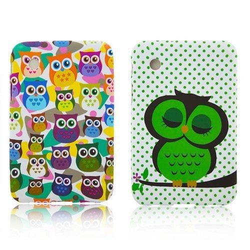 Samsung Galaxy Tab 2 P3100 P3110 P6200 TPU 2x SET Süße Eulen Design Schutz Handy Hülle Case Tasche Etui Bumper thematys®