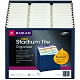 Smead Stadium® File, Alphabetic/ Monthly/ Daily, Household/ Blank Labels, 12 Pockets, Letter Size, Navy (70211)