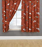 CharacterWorld Disney Cars Burning Curtains Including Tie Backs, 54 Inch