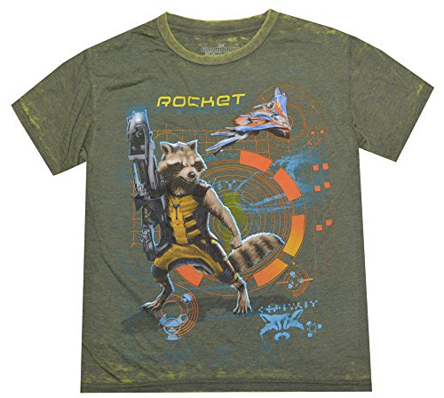Marvel Big Boys Guardian Of The Galaxy Rocket Raccoon T-shirt