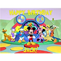 Mickey Mouse Clubhouse Edible Image Cake Topper Birthday Cake PERSONALIZED FREE!