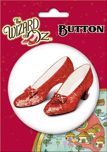 "Wizard of Oz Ruby Slippers 3"" Button"