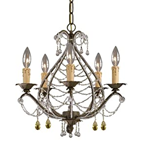 Crystal wrought iron chandelier - TheFind