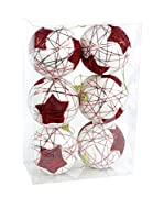 Decoracion Navideña Set Colgante decorativo 6 Uds. Árbol Navidad