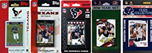 NFL Houston Texans 5 Different Licensed Trading Card Team Sets by C&I Collectables