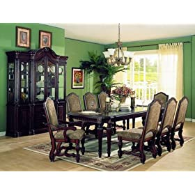 Home Elegance 1360-102-7 Mediterranean Style formal Dining Room 7 Piece Set
