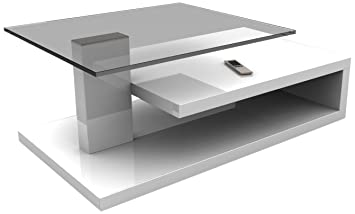 HL Design 01-01-148.2 Matthias Table Basse Blanc 60 x 103 cm
