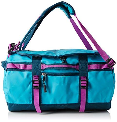 North Face-Base Camp - Duffel, borsone da viaggio a zaino, colore: blu/viola/azzurro/violetto, misura unica/M