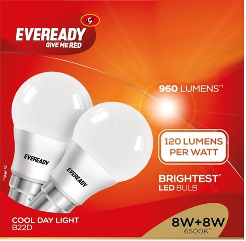Eveready-8W-B22D-LED-Bulb-(White,-Pack-of-8)