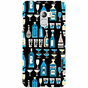 Lenovo K4 Note Back Cover - Silicon Bottles Designer Cases